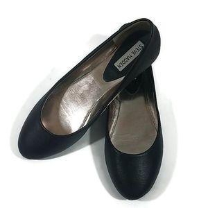 Steve Madden Amoree Black Leather Ballet Flats